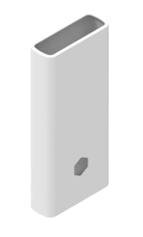 Защитный кейс для  Xiaomi Power Bank 2C/3 на 20000 mAh ( Силикон / Белый)