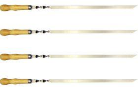 Шампуры с деревянной ручкой, набор 4 штуки