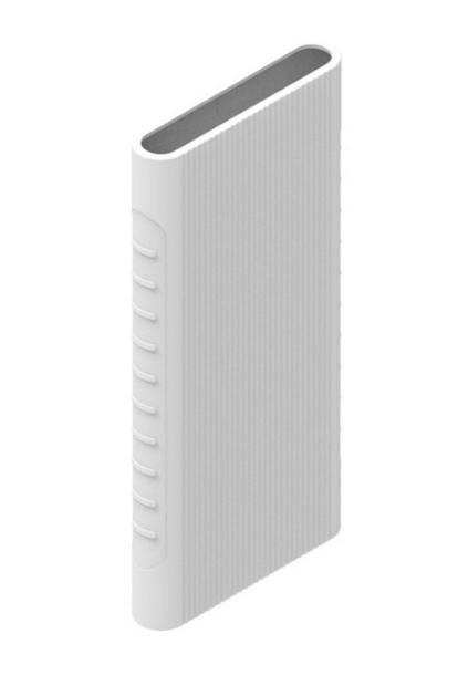 Защитный кейс для  Xiaomi Power Bank 2i/3  10000 mAh ( Силикон / Белый)