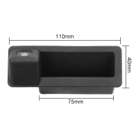 Камера заднего вида BMW X3 в ручку багажника (2009 и 2010)