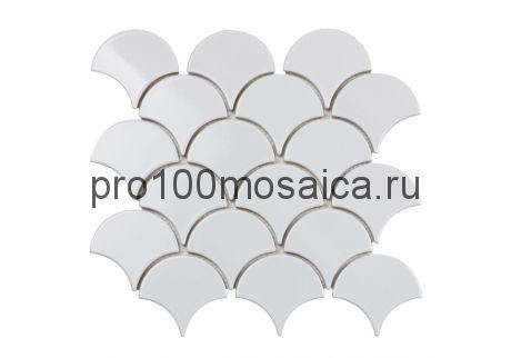 WHITE SCALES Мозаика чешуйки  серия RUSTIC, размер, мм: 259*279*6 (ORRO Mosaic)