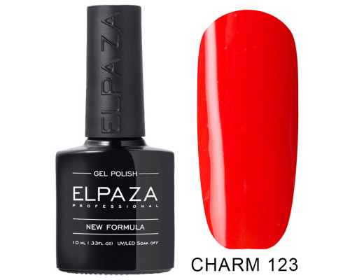 ELPAZA ГЕЛЬ-ЛАК  Charm 123  Красное пламя (Ярко-красный)  10 мл