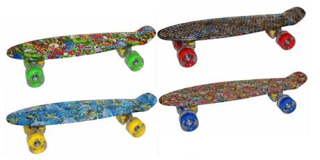 """Скейтборд пластиковый FREEK 22"""" принт"""