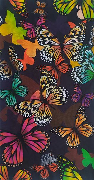Мультибандана с фоном из бабочек