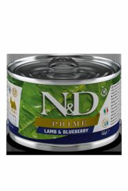 N&D DOG PRIME LAMB&BLUEBERRY mini (Ягненок с черникой для собак мелких пород) 140г.