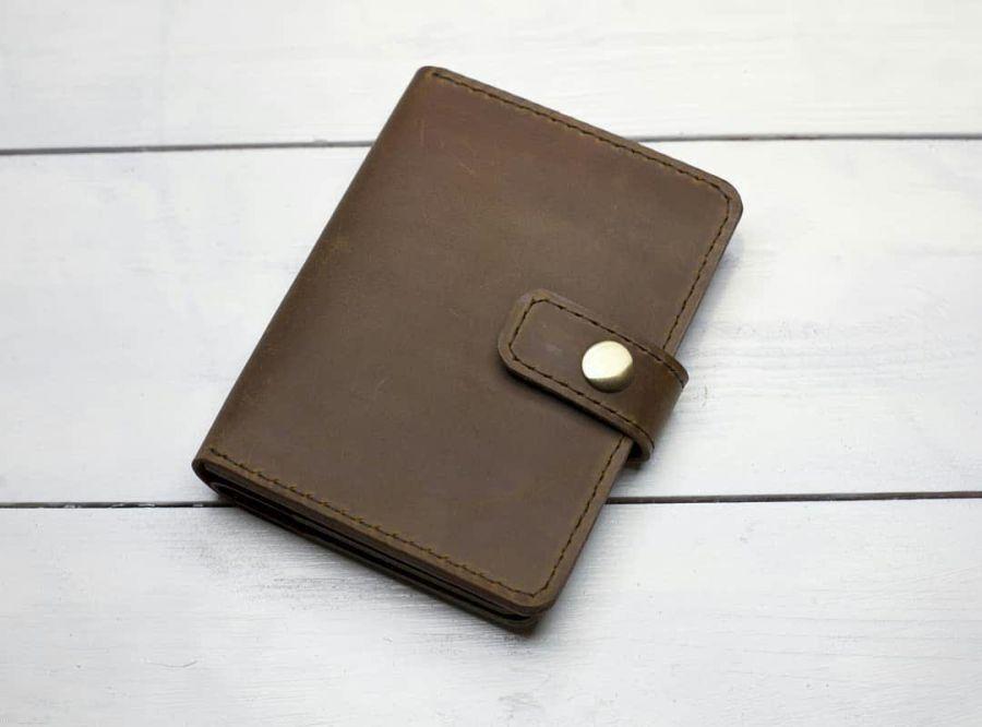 Портмоне с отделение для паспорта с застёжкой