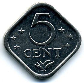 Нидерландские Антилы 5 центов 1979