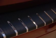 Накладка на задний бампер, AluFrost, сталь в карбоне, на седан