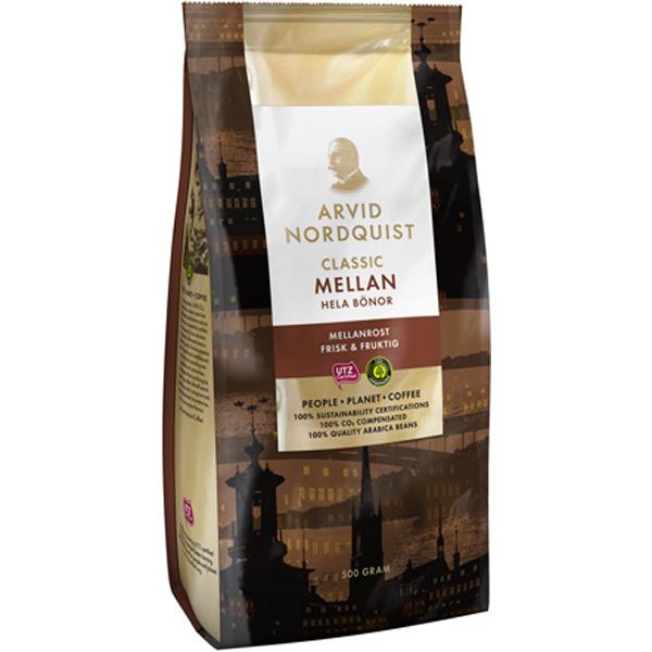 Arvid Nordquist Classic MELLAN  кофе в зерне 500 гр