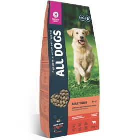 All DOGS Сухой корм для взрослых собак, с говядиной и овощами. 20кг