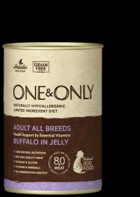 One&Only Buffalo in jelly Влажный корм для взрослых собак, с буйволом, 400гр.