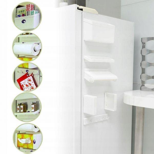 Магнитный стеллаж-органайзер на холодильник 5 in 1 Magnetic Storage Shelf