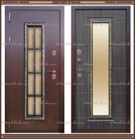 Входная дверь Агора 1,8 мм Орех тёмный со стекло-пакетом :