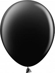 Шар (12''/30 см) чёрный, пастель, 100 шт.