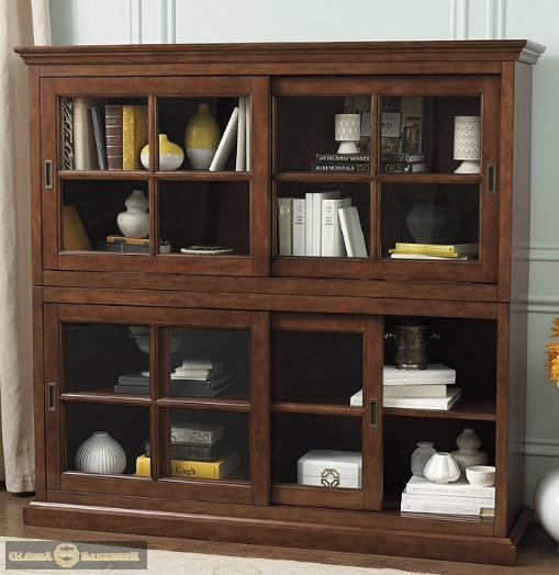 Шкаф для библиотеки Хуго-Dream H014D с декоративным плинтусом