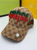 Бейсболка Gucci бежевая