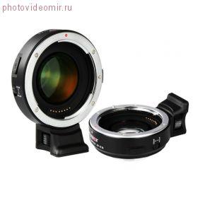 Переходное кольцо Viltrox Speed Booster EF-E II с объективов Canon EF на байонет Sony E-mount с автофокусом