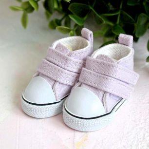 Обувь для кукол ЛЮКС - кеды 5 см (сиреневые)