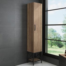 Шкаф-колонна Comforty  Бредфорд-40 дуб темный