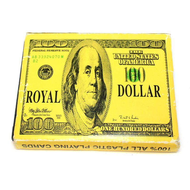 Покерные игральные карты в пластиковом футляре Золотой Доллар, 54 л