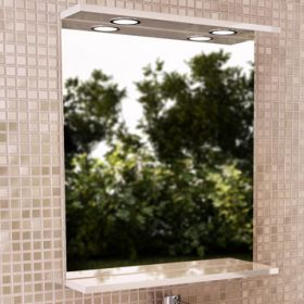 Зеркало Comforty К-60 белый глянец
