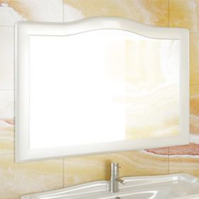 Зеркало Comforty Монако-120 белый глянец