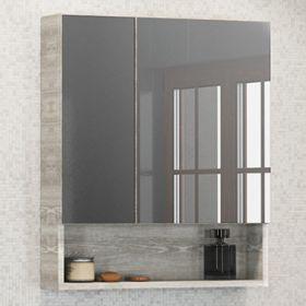 Зеркало-шкаф Comforty Никосия-60 дуб белый
