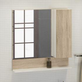 Зеркало-шкаф Comforty Рига-80 дуб сонома