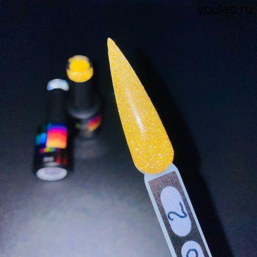 Гель-лак Flashing Lights PRO #2 YouLAC , 10 мл