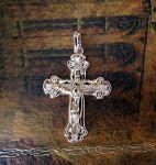 Позолоченный крестик с цирконами (арт. 880223)