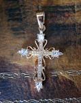 Позолоченный крестик с искусственными бриллиантами (арт. 880226)