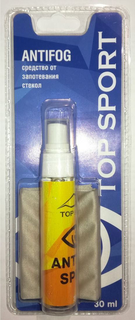 Жидкость-спрей против запотевания Antifog INDIGO Top Sport 30мл с салфеткой