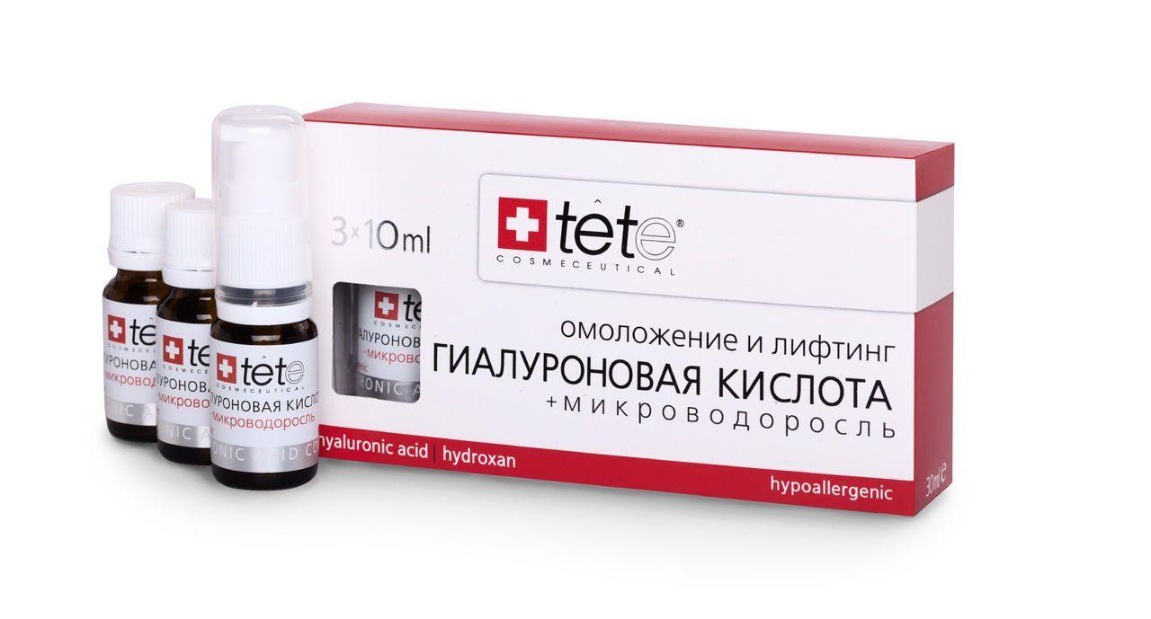 Гиалуроновая кислота и микроводоросли Tete cosmeceutical (Тете косметик) 3*10 мл