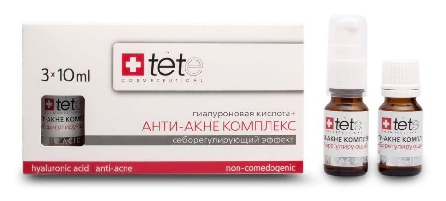 Гиалуроновая кислота и анти-акне комплекс Tete cosmeceutical (Тете косметик) 3*10 мл