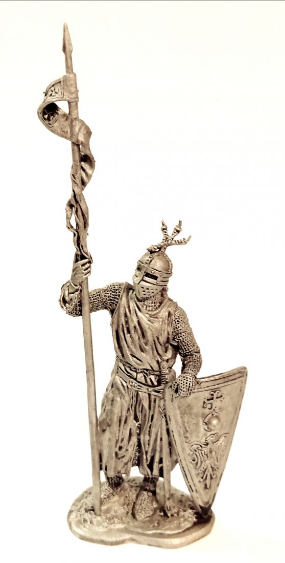 Фигурка Западноевропейский рыцарь 12-13 в. олово