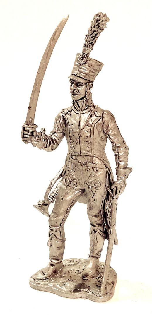 Фигурка Трубач 5-го гусарского полка.Франция 1812 г. олово