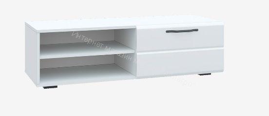 Тумба под ТВ Асти АТБ1150.1 (Белый глянец/Белый глянец)