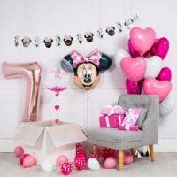 Фотозона из шариков для девочки Минни маус