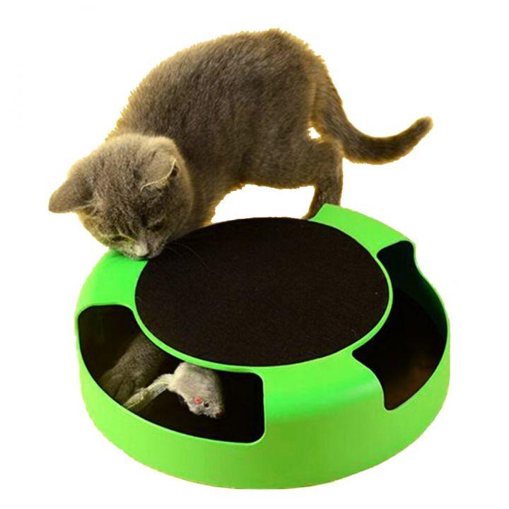 Интерактивная игрушка для кошек Поймай Мышку Catch The Mouse способствует активному движению кошки, поможет защитить мебель от царапин, а когти кошки здоровыми.