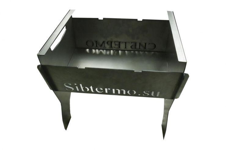 Мангал Сибтермо с упором коптильни 350*320*30 сталь 2мм