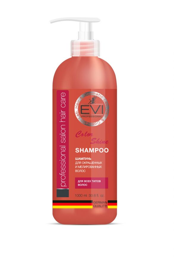 Шампунь «Интенсивный уход» для окрашенных и мелированных волос, 1000 мл.«EVI»