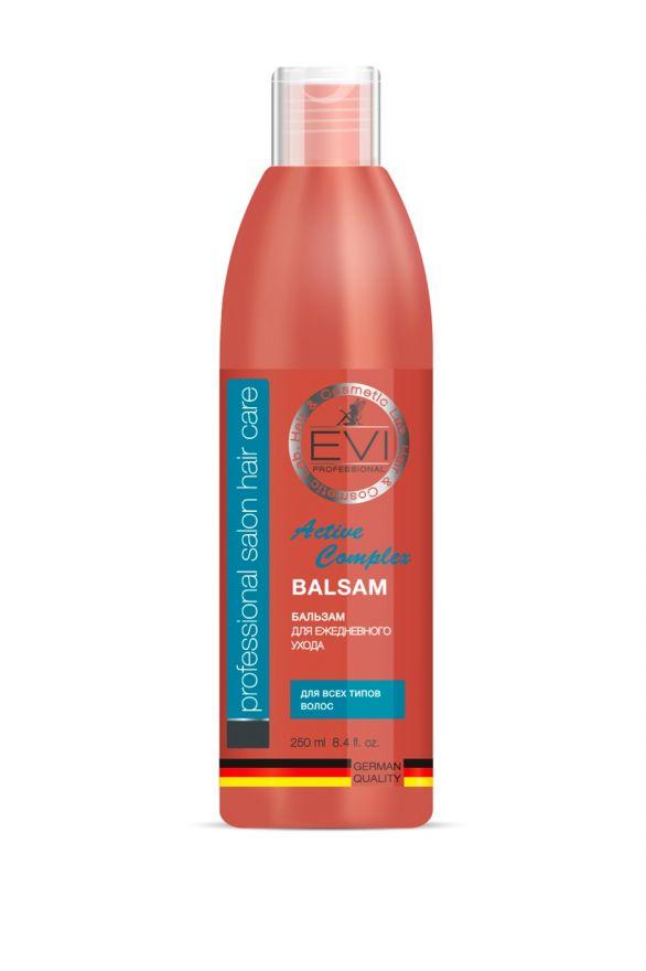 Бальзам-ополаскиватель «Активный комплекс» для всех типов  волос, 250 мл. «EVI»