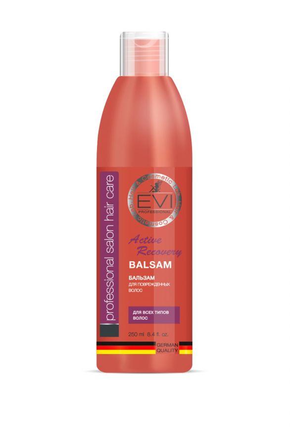 Бальзам-ополаскиватель «Активное восстановление» для поврежденных волос, 250 мл. «EVI»