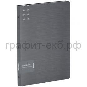 Папка 40 конвертов Berlingo Steel&Style серебристый металлик PPf_96102