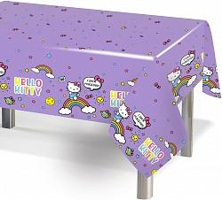 Скатерть ПЭТ, Hello Kitty, Сиреневый, 120*180 см, 1 шт.