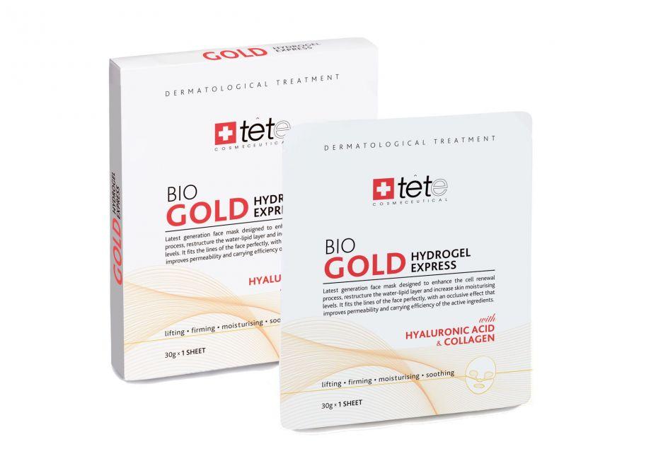 Коллагеновая маска моментального действия с коллоидным золотом (BIO Gold Collagen Mask) Tete cosmeceutical (Тете косметик) 4 саше