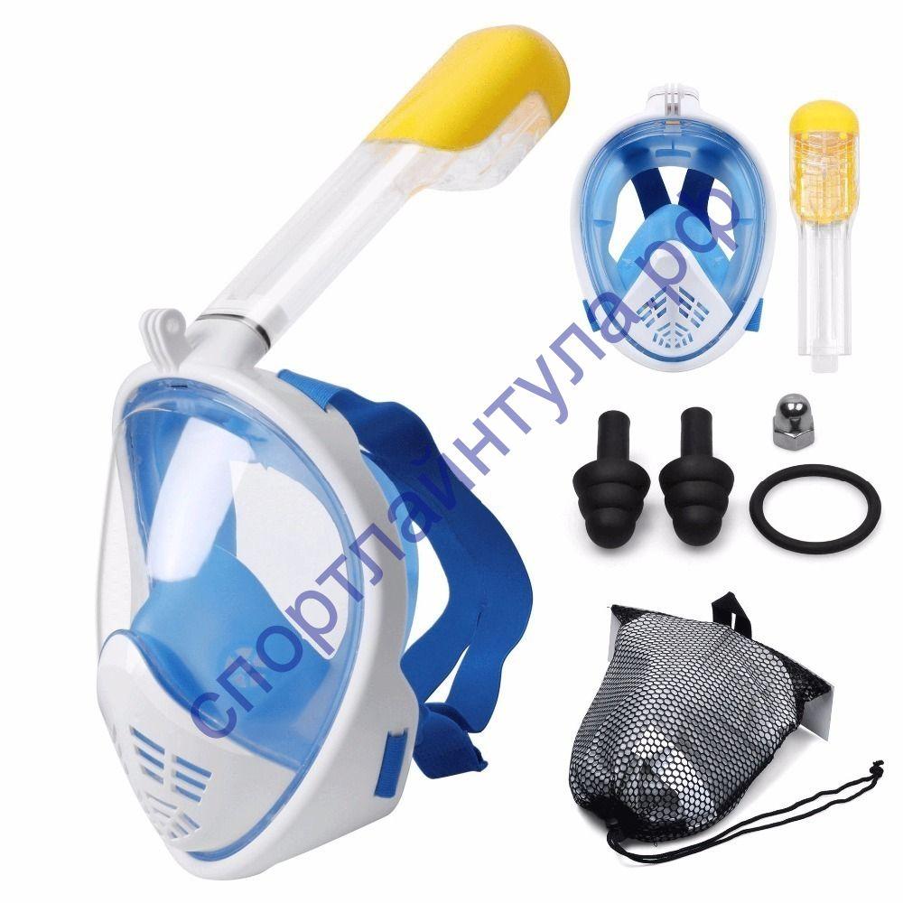 Полнолицевая маска для подводного плавания (снорклинга) Free Breath с креплением для экшн камеры