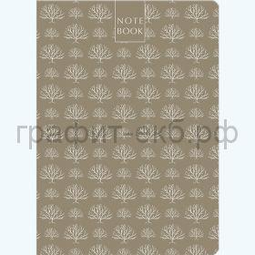 Книжка зап.Полином А5 BROWN FOREST 96л.кл. на резинке с петлей для ручки 3129