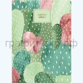 Книжка зап.Полином А5 CACTUS 96л.кл. на резинке с петлей для ручки 3131