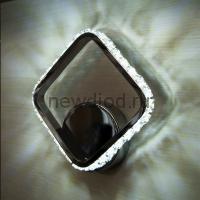 Светодиодный светильник, бра ON/OFF PRINCE 10W S-285/295/55-CHROME/CRYSTAL-220-IP20